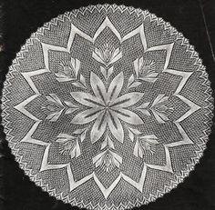 Vintage knitting pattern-intricate lace baby christening shawl