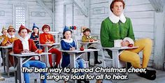 top 14 best gifs quotes from movie Elf Quotes from the movie Elf,Elf is a movie about innocence, goodness, and Christmas cheer. When you feel you have had enough of this world that is full of cynicism, read Elf quotes. Merry Christmas Darling, Noel Christmas, Christmas Music, Christmas Humor, Christmas Things, Christmas Artwork, Christmas Videos, Christmas Quotes, Pink Christmas