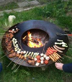 A Grill That Can Serve As A Fire Pit And Table Too Cool Stuff - Grill table fire pit all in one