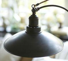 Glendale Pulley Task Floor Lamp | Pottery Barn