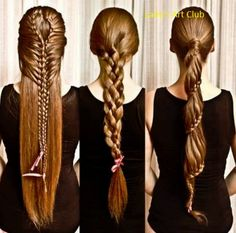 Long hair braids #brunette - For more #hairstyle looks or inspirations go to bellashoot.com