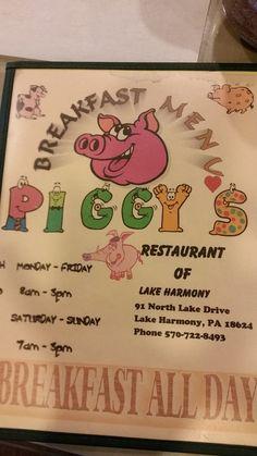 Photo of Piggy's Restaurant - Lake Harmony, PA, United States. Menu