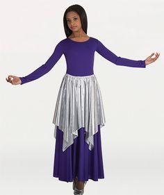 601 Metallic Skirt/Cape Overlay $20.25