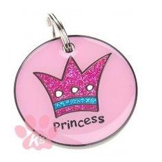 #chapa identificadora PRINCESS ideal para las #perritas más coquetas. Podrás encontrar este modelo, el modelo #prince y muchos más en www.dogsaffair.com