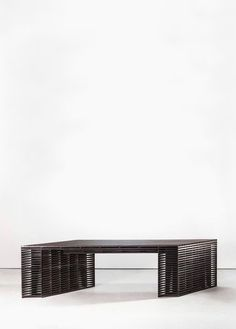 Ian Stell: Big Pivot. Ebonized White Oak Table. © Ian Stell