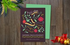 Check out Holiday Non-Photo Card by aticnomar on Creative Market
