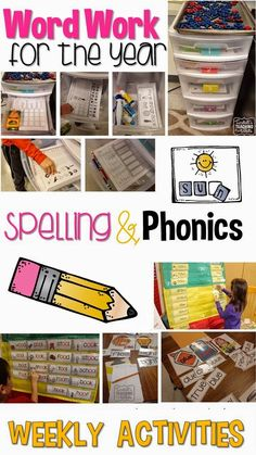 Word Work for the Year- Spelling and Phonics. A great plan here!  $