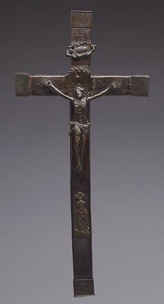 Crucifix, 16th century (?)Democratic Republic of Congo; Kongo peoples Brass, wood