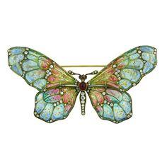 Plique-à-jour Enamel Butterfly