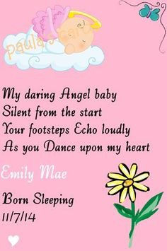 IN LOVING MEMORY GRAVE CARD  BABY GIRL/ PINK born sleeping