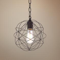 """La Joya 9"""" Wide Orbital Bronze Pendant Light"""