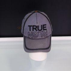 62e57883e87 True Religion Unisex Baseball Cap Adjustable Gray Hat Upside Down RLGN   TrueReligion  BaseballCap  baseballcaps