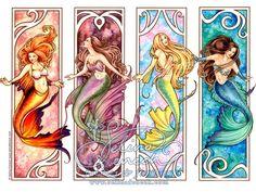 Art Nouveau Mermaids