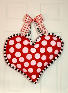 Hand Painted Valentine's Burlap Heart