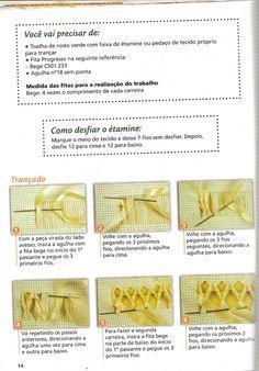 Coleção artesanato pratico e fácil Bordado de Fitas ano 1 n°3