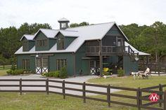 Morton Buildings horse barn in North Carolina. With a screened porch!