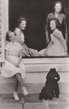 carolathhabsburg: Princess Christina, Princess Irene, Princess Margriet, and Crown Princess Beatrix of the Netherlands, late 1950s