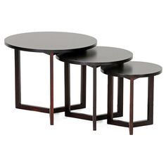 ♥ ♥ Hess Round Wooden Nesting Tables Set - Wenge ♥ ♥ - Discovered at www.dcgstores.com...