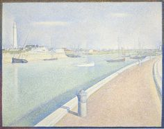 """Georges Seurat (French, 1859-1891), """"The Channel of Gravelines, Petit Fort Philippe,"""" 1890; Indianapolis Museum of Art, Gift of Mrs. James W. Fesler in memory of Daniel W. and Elizabeth C. Marmon, 45.195"""
