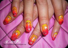 orange nail designs - Google Search