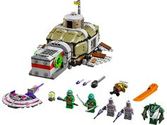LEGO 79121 Teenage Mutant Ninja Turtles™ Turtle Sub Undersea Chase The Kraang have got the power cell and are getting away in their mini Kraang su Brand Building, Building Toys, Lego Turtles, Lego Indiana Jones, Lego Toys, Kids Store, Toys R Us, Teenage Mutant Ninja Turtles, Tmnt