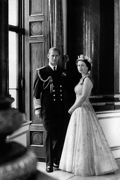 1957. Prince Philip, the Duke of Edinburgh, and Her Majesty, Queen Elizabeth II, by Cecil Beaton, 10 October 1957.