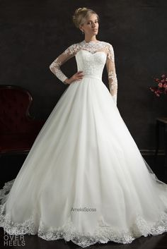 Amelia Sposa 2015 Wedding Dress Style: Nubia | Heart Over Heels #bridal #designer