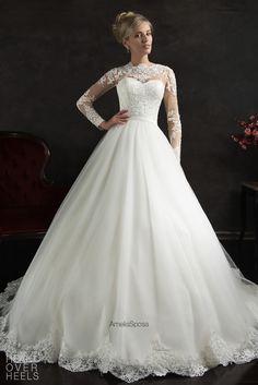 Amelia Sposa 2015 Wedding Dress Style: Nubia   Heart Over Heels #bridal #designer