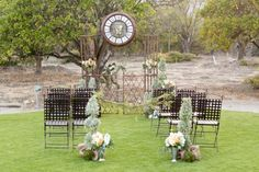 Having a small intimate wedding? (this would be perfect!!!)- need about 10 more chairs. lol   #intimateweddings #ceremony #rustic