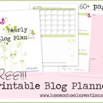 FREE Blog Planner Printables ~ Organize Your Blog Planning. Over 60 pages {undated} to help you get your online life organized. #blogging