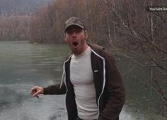 ~ST <3 OMGOODNESS HE IS SO FUNNY.. Rock skipping makes the coolest noise on frozen lake