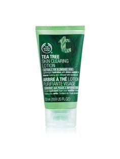 The Body Shop Tea Tree Skin Clearing Lotion will helps to moisturize with a light, mattifying lotion that hydrates skin and controls oil while helping to clear skin & treat blemished, acne prone skin.
