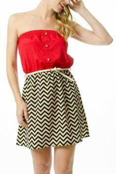 chevron tube dress