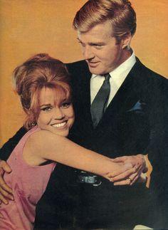 """Robert Redford y Jane Fonda en """"Descalzos por el parque"""" (Barefoot in the park), 1967"""