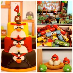 Angry Birds Themed Birthday Party with Lots of Really Fun Ideas via Kara's Party Ideas KarasPartyIdeas.com #angrybirdsparty #boyparties #ang...