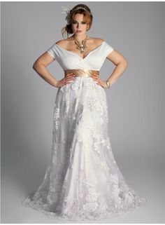 135ed2d9296d9 Loving this Plus Size Eugenia Vintage Wedding Gown from by Yuliya Raquel .  This is so gorgeous!
