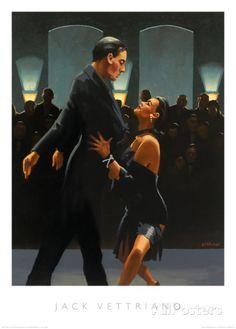 Rumba in Black Posters tekijänä Jack Vettriano AllPosters.fi-sivustossa