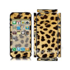 Animal pattern Skin Cover Screen Protector for Apple iPhone 5 (Style 1) [CCSK-PHVP12] - $12.00 : Leopard 1