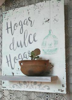 Hogar dulce hogar con mini macetita