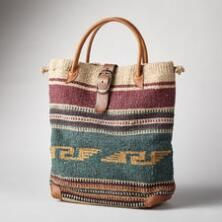 A unique woven wool bag that's perfect for errands and adventures alike.