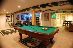 Man cave packers pin it like image basement games, man cave basement, man. Basement Games, Man Cave Basement, Man Cave Garage, Basement Ideas, Man Cave Diy, Man Cave Home Bar, Estilo High Tech, Ultimate Man Cave, Video Games For Kids