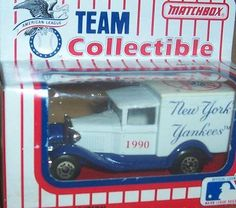New York Yankees 1990 MLB Diecast Ford Model A Truck 1/64 Scale Baseball Team Collectible Matchbox White Rose by MLB. $20.89. From 1990 by Matchbox and White Rose Collectibles. Awesome collectible - very hard to find!. Check out my other awesome NFL, MLB and NBA diecast toy car collectibles!. Features logo of New York Yankees. Car is approximately 3 inches long. 1990 NEW YORK YANKEES DIECAST MODEL A STYLE DELIVERY TRUCK.  FROM WHITEROSE COLLECTIBLES. This MODEL A TRUCK comes in ...