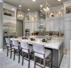 Elegant And Luxury Kitchen Design Stunning And Luxury White Kitchen Design inspiring modern luxury kitchen design ideas Sage Kitchen Cabinet Design Ideas Küchen Design, Layout Design, House Design, Design Ideas, Luxury Kitchens, Cool Kitchens, Dream Kitchens, Luxury Kitchen Design, Tuscan Kitchens