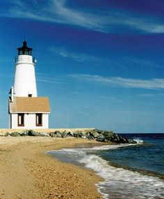 The Cove Point Lighthouse in Maryland was established in 1828. It's operated by the Calvert Marine Museum in Solomons, Maryland.