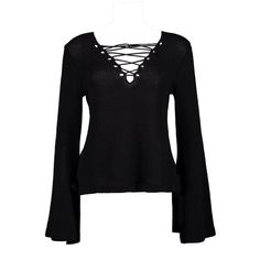 Boohoo Charlotte Lace Up & Tie Sleeve Jumper (175 SEK) ❤ liked on Polyvore featuring tops, sweaters, short-sleeve turtleneck sweaters, knit turtleneck sweater, lace up sweater, nordic sweater and knit sweater