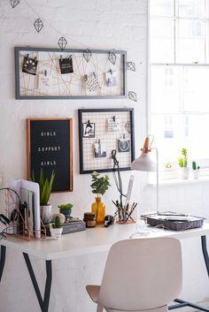 La nueva colección de Primark Homeelledecoresp #Organización #Bedroomdesk Study Room Decor, Room Ideas Bedroom, Bedroom Decor, Design Bedroom, Home Office Design, Home Office Decor, Home Decor, Living Room Interior, Living Room Decor