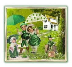 """We'll Walk in the Irish Rain"" by rainheartcreations ❤ liked on Polyvore featuring art"