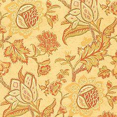 Thibaut Fairfax - Jacobean Trail - Wallpaper - Gold