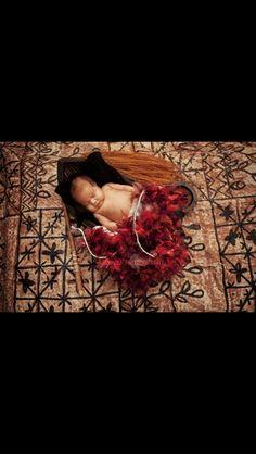 Samoan traditional props baby photo shoot