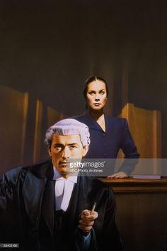 ABC FEATURE FILM - 'The Paradine Case' - 12/31/47, Top barrister Anthony Keane (Gregory Peck)came under the spell of murder suspect Maddalena Anna Paradine (played by Alida Valli in her U.S. film debut), in this film directed by Alfred Hitchcock., (ABC PHOTO ARCHIVES/ABC FEATURE FILMS)  (Photo by ABC Photo Archives/ABC via Getty Images)